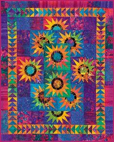 Tropical Sundance by Judy Niemeyer....I have this quilt partially completed in my UFO stack...maybe someday I'll get back to it.