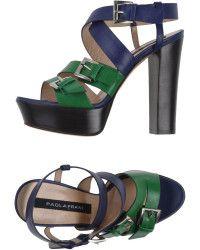 Paola Frani Green Sandals - Lyst