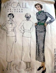 McCall 8114 | ca. 1935 Junior Miss Two-Piece Dress