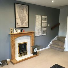 New Living Room Grey Oak Paint Colours Ideas, with oak cabinets color schemes Chandelier In Living Room, Living Room Paint, Paint Colors For Living Room, Slate Walls Bedroom, New Living Room, Living Room Diy, Living Room Grey, Diy Living Room Decor, Living Room Designs