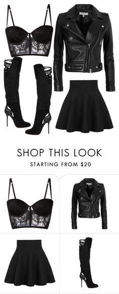 """""""Basic black rebel outfit"""" by maile-estacion ❤ liked on Polyvore featuring I.D. SARRIERI, IRO, WithChic and Sergio Rossi"""