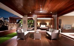 Maximize Your Side Porch with 25 Modern Living Room Ideas - Art and Decorations Ideas - Art and Decoration Ideas Luxury Homes Interior, Best Interior Design, Interior Design Living Room, Living Room Designs, Interior Decorating, Interior Architecture, Outdoor Living Rooms, Living Room Modern, Alfresco Designs