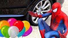 Spiderman's Balloon Balls were crushed under car wheel of Reckless Joker...