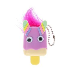 <P>Go ahead and pucker up for this cutte little monster. The apple flavoured lip gloss in the shape of a popiscle has a cap decorated with googly eyes and pink hair.</P><UL><LI>Flavorred lip gloss <LI>.8g/.028 oz <LI>Clear finish</LI></UL>