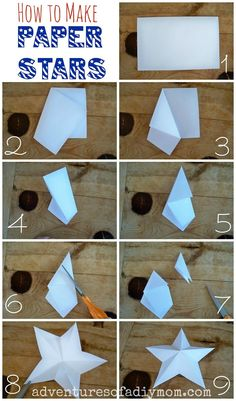 Adventures of a DIY Mom - How to Make 3-D Paper Stars