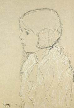 Gustav Klimt - Bust of a girl in profile