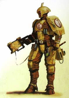 Tau fire warrior, from Warhammer 40K