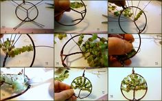 wire tree of life pendant tutorial Wire Crafts, Jewelry Crafts, Jewelry Ideas, Wire Tutorials, Tree Of Life Jewelry, Diy Couture, Tree Of Life Pendant, Homemade Jewelry, Beads And Wire