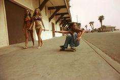 "HUGH HOLLAND: Sidewalk Surfer, Huntington Beach, 1976 // ""Angels. Street. Skate. Seventies."" (2006)"