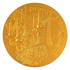 """MEDALLA EN BRONCE CONMEMORATIVA. 1973 Inscripción: """"Pour L'An neuf"""" y """"Mille Voeux"""". Diámetro: 10 cm. Peso: 445 gr."""