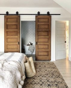 Likes, 50 Comments - Jenni Yolo Yolo, Small Bathroom, Master Bathroom, I Spy Diy, 2 Instagram, Pocket Doors, Beautiful Interiors, Home Projects, Interior And Exterior