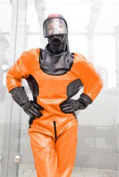 Hot Latex Catsuit Bodysuit Costume Ball Firefighter size Men XL US shipment Latex Costumes, Latex Cosplay, Catsuit Costume, Latex Men, Latex Suit, Gas Mask Girl, Mode Latex, Black Catsuit, Diving