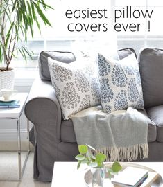 Easiest Pillow Covers Ever | Centsational Girl