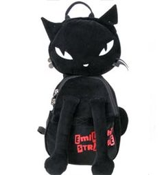 Emily Strange Kitty Back Pack http://www.mame.com.au/accessories/bags-wallets