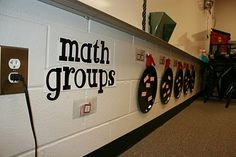 Spray painted pizza pans, ribbons and hooks for math or reading groups! Magnetic, so you can move the names around!#Repin By:Pinterest++ for iPad#