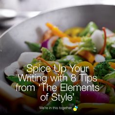Spice Up Your Writing with 8 Tips from 'The Elements of Style' Elements Of Style, Spice Things Up, Spices, Writing, Tips, Spice, Writing Process, Counseling