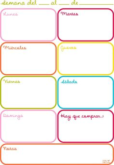Imprimibles en español.