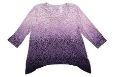 Alfred Dunner Sonoma Valley 3/4 Sleeve V Neck Ombre Draped Top Alfred Dunner. $32.99