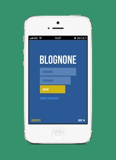 Blognone iPhone app by idmaximum , via Behance