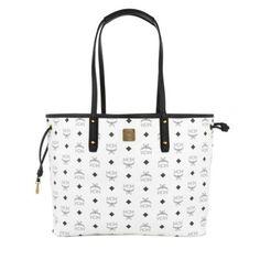 MCM Tasche – Shopper Project Visetos Reversible Large White – in weiß – Umhängetasche für Damen