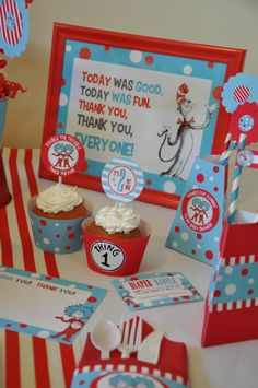 Twins Baby Shower Dr Seuss Thing 1 & Thing 2 by GlitterInkDesigns