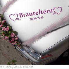 Autoaufkleber Hochzeit - Brauteltern mit Datum