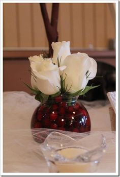 navy blue and cranberry centerpieces - Google Search
