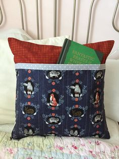 Beyond the Brush Book Pillow Quilted  Dear Stella Pillow Cover by ZeedleBeez on Etsy
