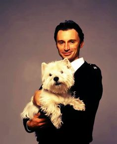 Robert Carlyle and Wee Jock from Hamish MacBeth
