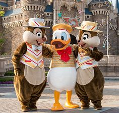 Donald and Chip and Dale