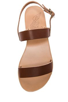 Ancient Greek Sandals|Clio Calfskin Leather Sandals in Coto 185.00