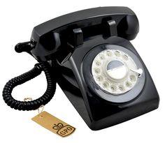 Retro Telefon ROTARY DIAL - 1970er Design in schwarz: Amazon.de: Elektronik