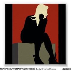 MGWP GIRL WOMAN WAITING RED BLACK MODERN ART CHARA POSTER (32 SAR) ❤ liked on Polyvore featuring home, home decor, wall art, girls wall art, red and black wall art, modern home accessories, girl posters and mod home decor