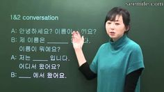 "(Korean conversation II) 1. ""Introducing oneself"" expression"