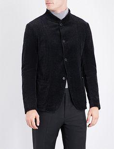 ARMANI COLLEZIONI Herringbone velvet jacket