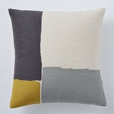 Steven Alan Abstract Crewel Pillow Cover - Horseradish