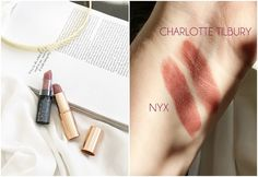Lipstick dupes 550283648220720263 - Charlotte Tilbury Pillow Talk Matte Revolution Lipstick Dupes – All In The Blush Source by lisalatts Mac Lipstick Cosmo, Crayon Lipstick, Lipstick Dupes, Makeup Dupes, Makeup Brands, Mac Dupes, Nude Lipstick, Lipstick Shades, Makeup Products