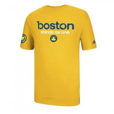 adidas Celtics Boston Stands As One T-Shirt [Yellow]br All Proceeds To One Fund Boston