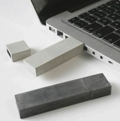 """concrete USB drive. And I love that it's described as """"a contemporary artifact"""". Magnus Pettersen"""