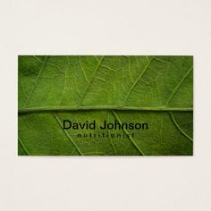 Vegetable farm market agriculture business card pinterest green leaf texture nutritionist business card reheart Gallery