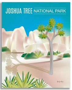 Joshua Tree National Park wall art is available in an array of finishes, materials, and sizes, this retro inspired wall art will make Joshua Tree National Park feel close to your heart with its bright