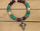 Elephant Bead Stack Bracelet