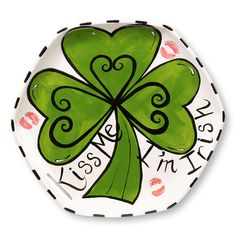St. Patrick's Day Irish Kiss Me Plate