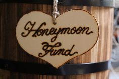 """honeymoon fund"" sign Khimaira Farm - #Farm #Fund #honeymoon #khimaira #Sign Honeymoon Fund, Dog Tag Necklace, Wedding Decorations, Easels, Chalkboards, Signs, Jewelry, Saw Horses, Jewels"