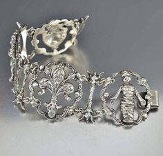 Buy Vintage and Antique Jewelry Online Antique Jewellery Online, Antique Jewelry, Vintage Jewelry, Antique Bracelets, Silver Bracelets, Silver Jewelry, Gothic, Antique Silver, Diamond