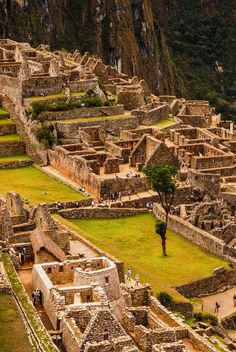 City of Stone, Machu Picchu, Peru  You have to hike like 5 miles to get to here over rugged mountain trails!: