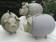 Pottery piggies