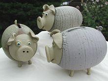 Pottery piggies