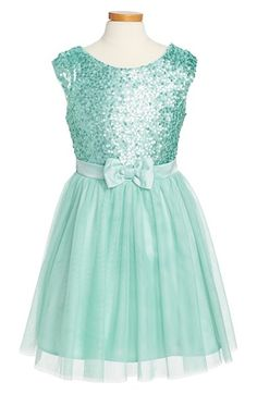Free shipping and returns on Zunie 'Paige' Sequin Party Dress (Big Girls) at Nordstrom.com. A shimmering sequined bodice and a floaty chiffon skirt make this party dress fit for a princess.