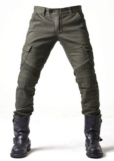 Motorcycle jeans for men: abrasion-resistant kevlar jeans and jeans with armour. Kevlar Jeans, Kevlar Motorcycle Jeans, Motorcycle Outfit, Rugged Style, Moto Pants, Cargo Pants, Jeans Fit, Style Brut, Motorbike Clothing
